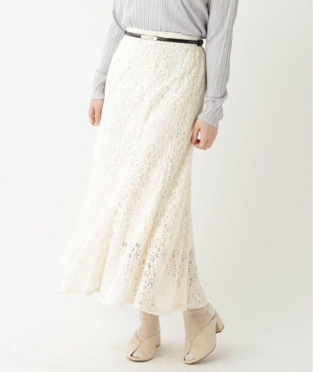 コードレースセミフレアパネルスカート