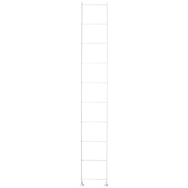 スチールユニットシェルフ・奥行25cmタイプ・追加用帆立・大・ライトグレー 高さ175.5cmタイプ用