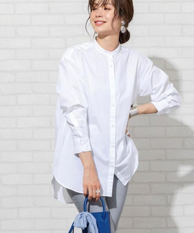 ブロードバンドカラーロングシャツ