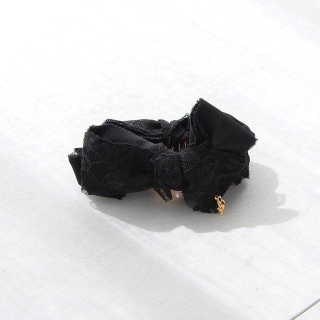 レースリボンバナナクリップ Black