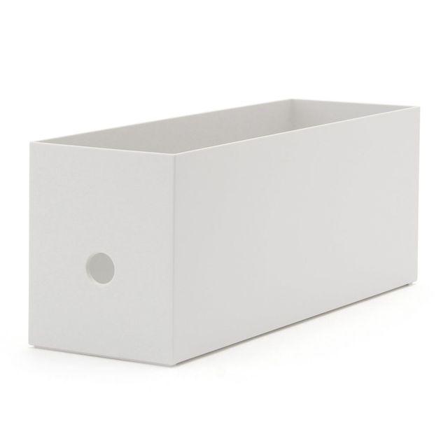 ポリプロピレンファイルボックス・スタンダードタイプ・ホワイトグレー・1/2 約幅10×奥行32×高さ12cm