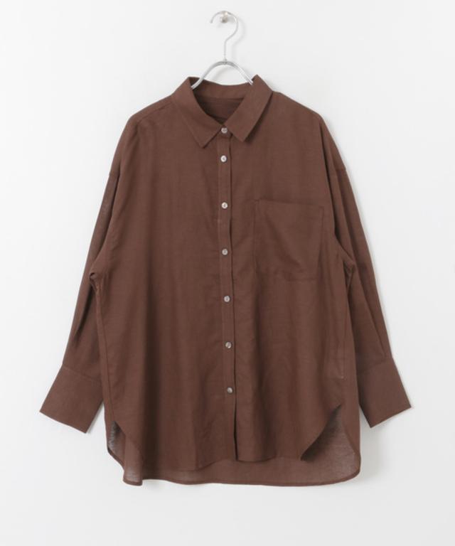 リネンレーヨン 2WAYルーズシャツ