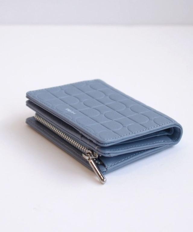 タイル柄2つ折り財布
