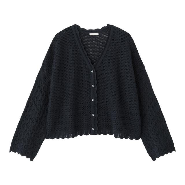 透かし編みカーディガン(長袖)