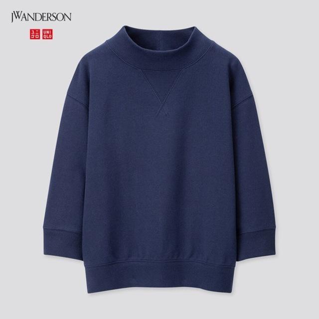 ハイネックスウェットシャツ(7分袖)