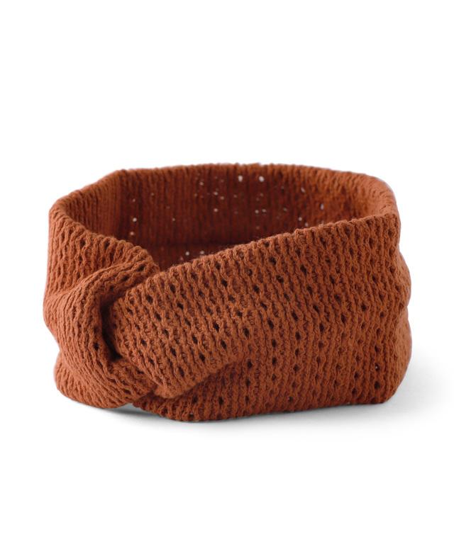 透かし編みヘアターバン
