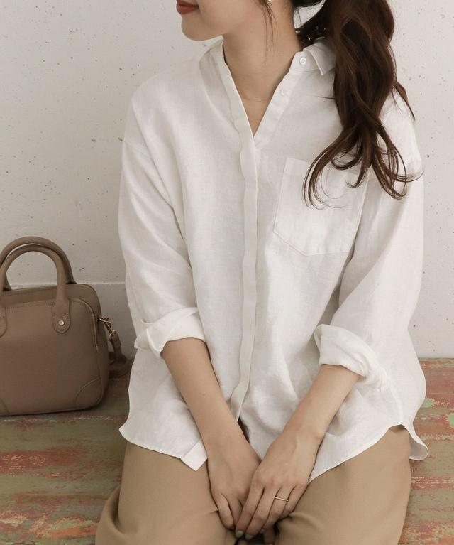 リネンワイドシャツ
