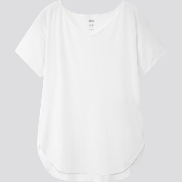 エアリズムシームレスVネックロングTシャツ