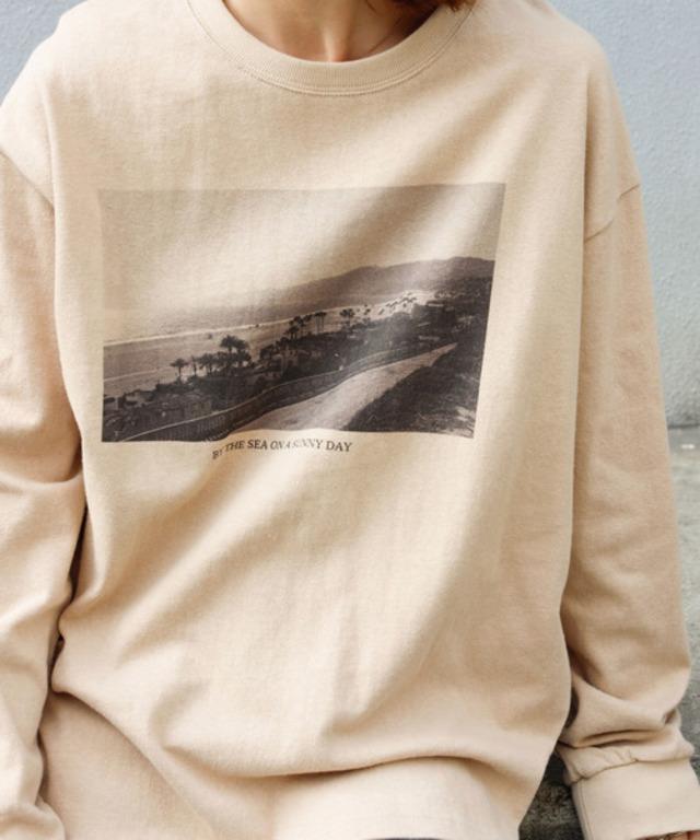 モノクロフォトTシャツ /ヘヴィーウエイトコットン