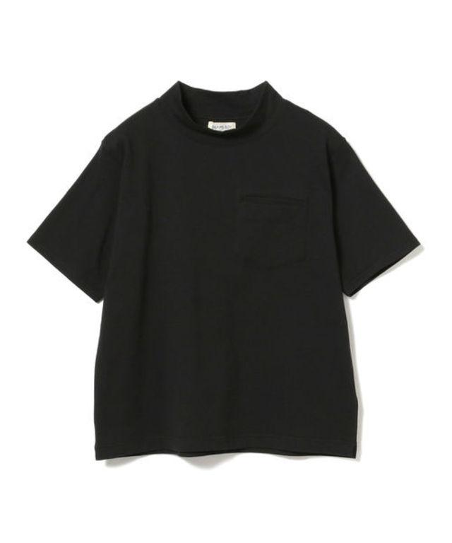 ハイネックポケットショートスリーブTシャツ