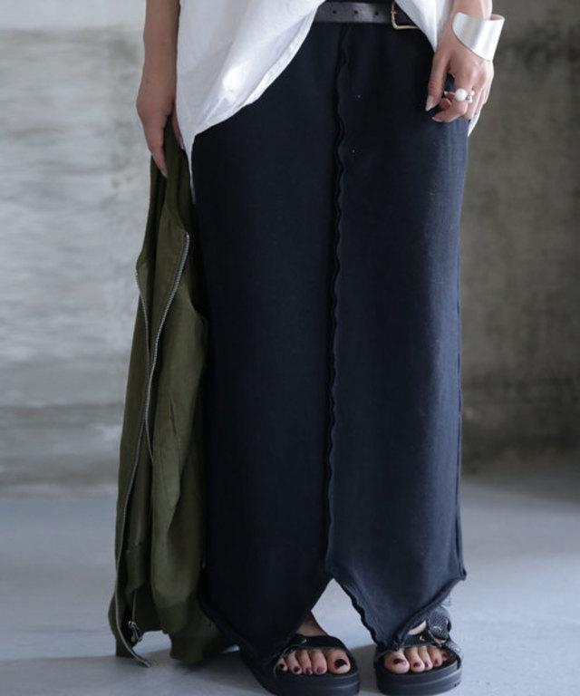 オシャレも着心地も譲れない、大人の装い。裏毛ロングスカート