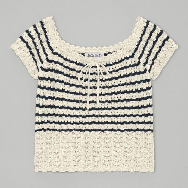透かし編みセーター(半袖)MNM