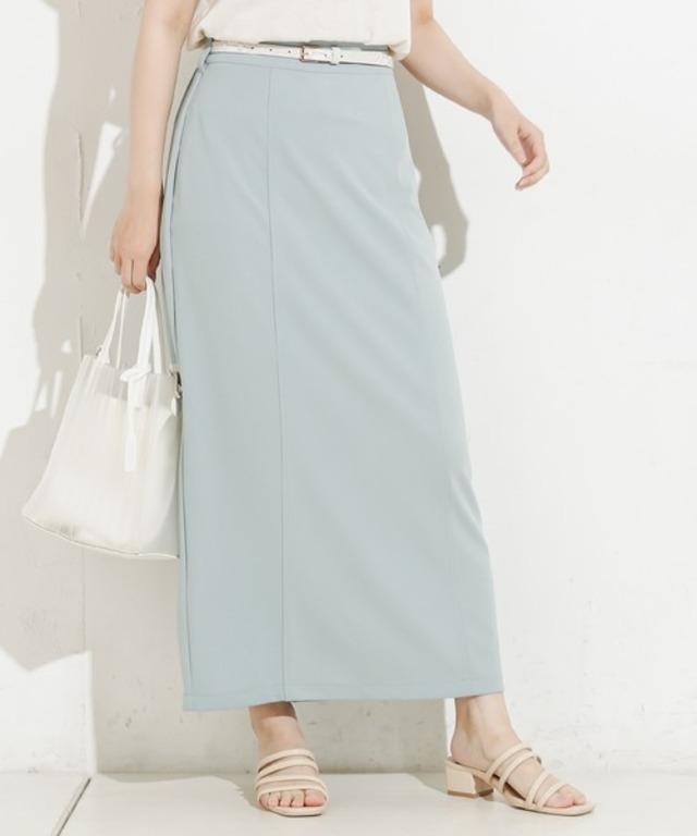 90cm丈ベルト付きカットタイトスカート