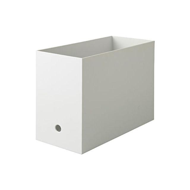 ポリプロピレンファイルボックス・スタンダードタイプ・ワイド・A4用ホワイトグレー