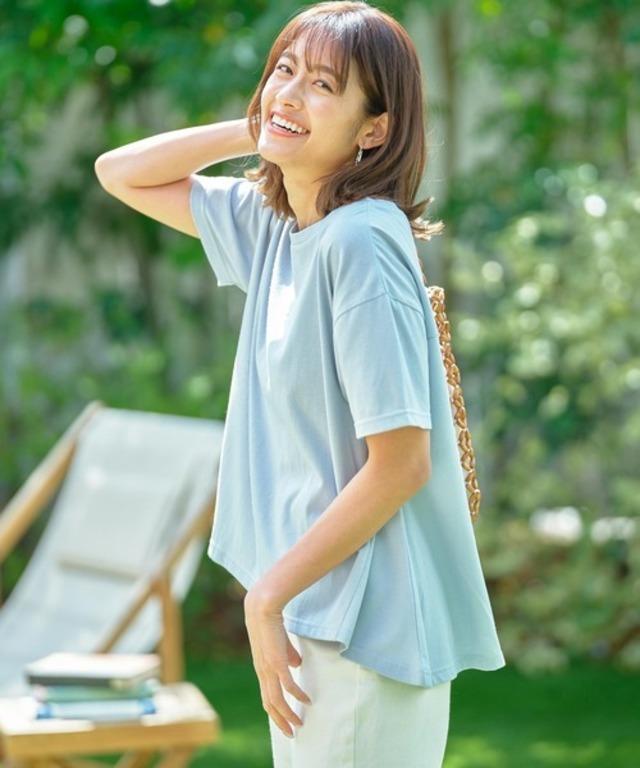 撥水加工汗染み防止AラインTシャツ