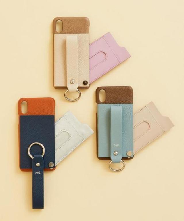 レザーiPhone X/XS スライドパスケース