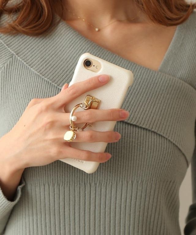 キラリングスタンドiPhoneケース
