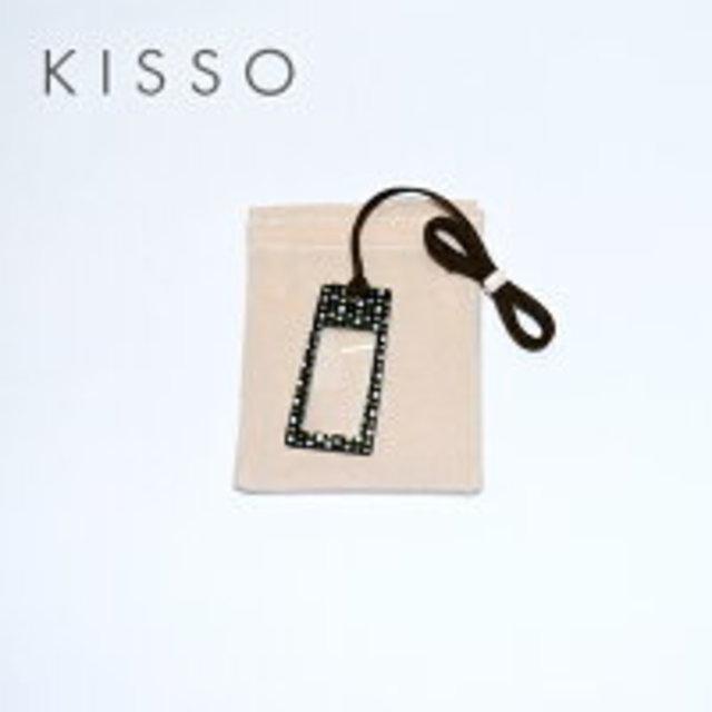 キッソオ ルーペ LS2-370 ブラックブロック メガネ素材のペンダントルーペ