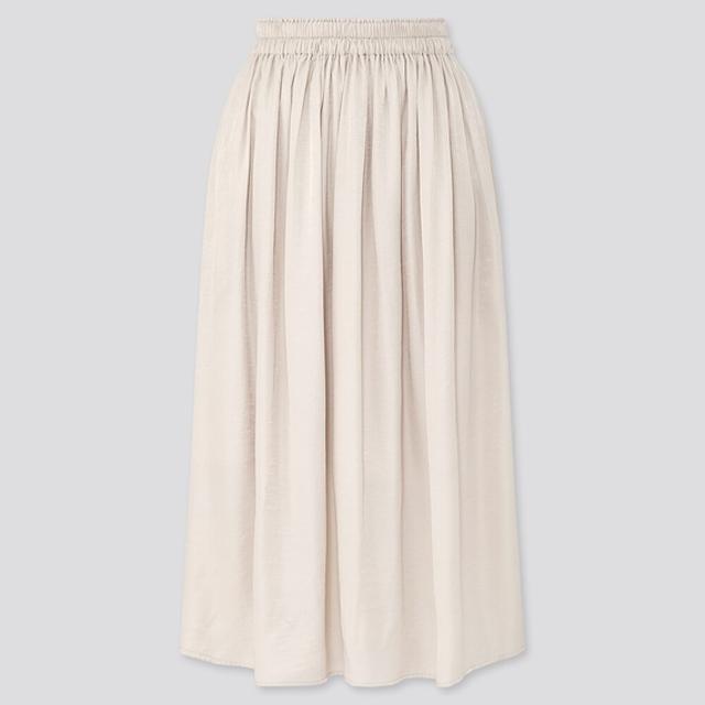 ドレープギャザーロングスカート(丈短め76~80cm)