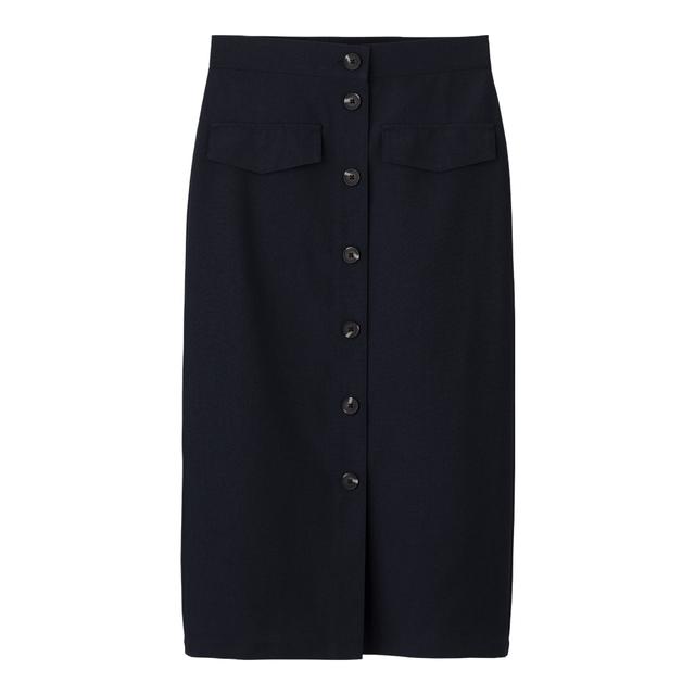 フロントボタンナロースカート