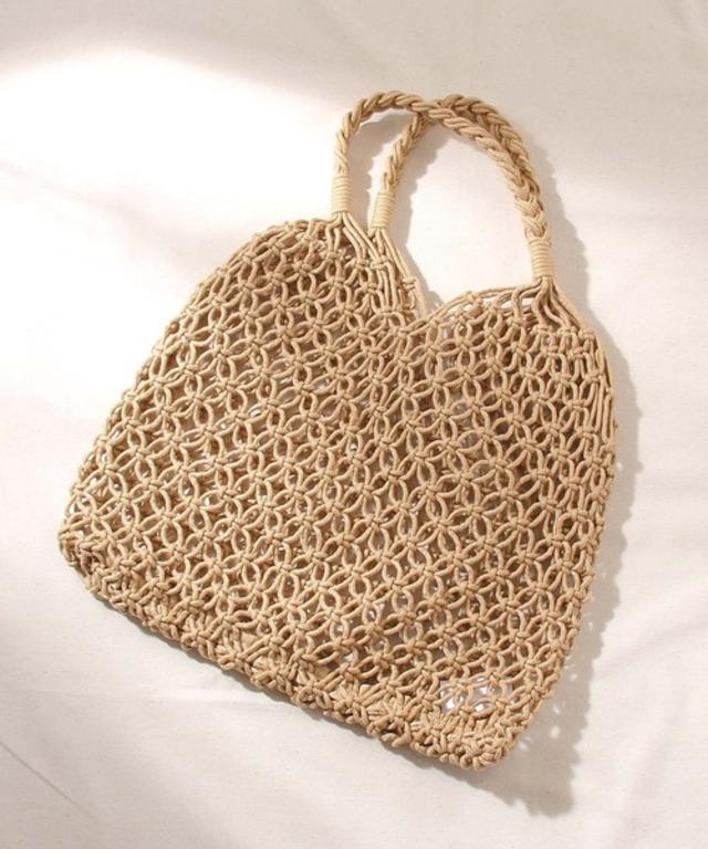 編み編みメッシュトートバッグ