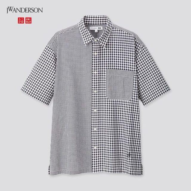シアサッカーシャツ(半袖)