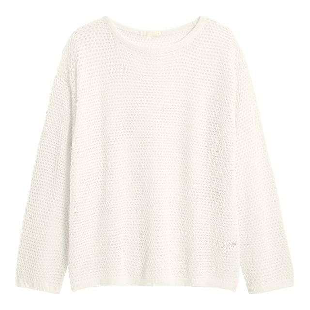 メッシュオーバーサイズセーター