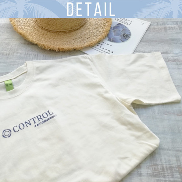 CONTROLプリントTシャツ(アイボリー)