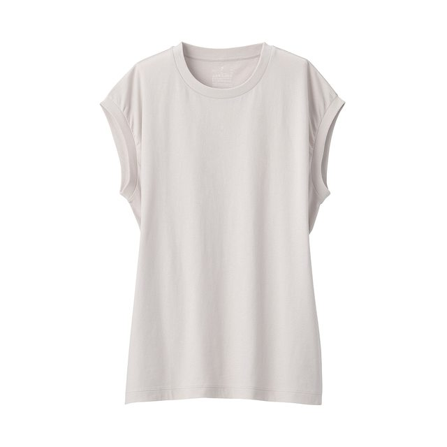 インド綿天竺編みスリーブレスTシャツ