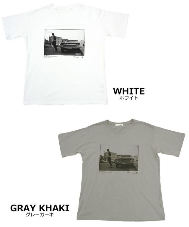 カジュアルフォトTシャツ