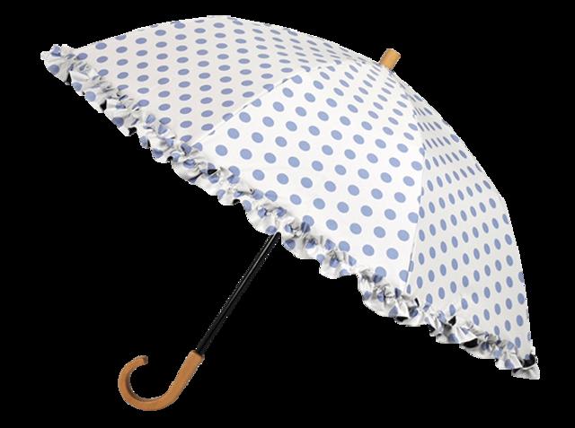 折りたたみ日傘 2段折 / フリル水玉