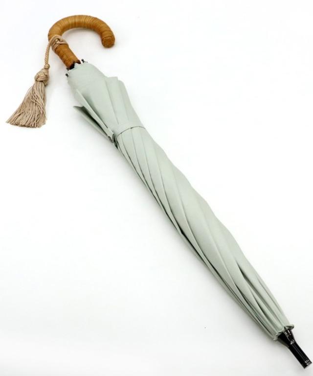 日傘 完全遮光 籐巻きハンドル