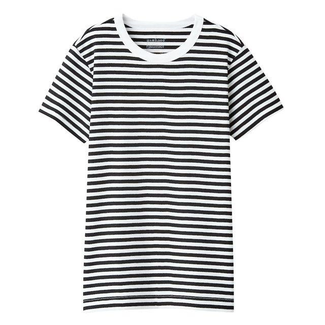 汗じみしにくいフライス編みクルーネック半袖Tシャツ