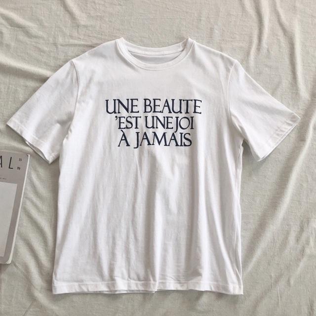 オーバーサイズ スタイリッシュ ロゴ Tシャツ