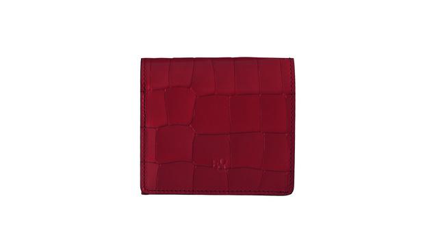 Tile 小さい財布 / BOX小銭入れ付折り財布 レッド