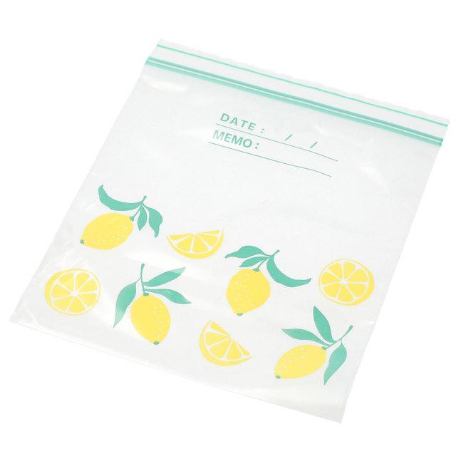 フリーザーバッグ ダブルジッパー レモン(M 60枚入)