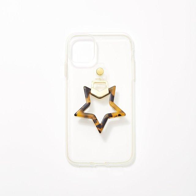 星型リングiPhone11/XRケース アンバー