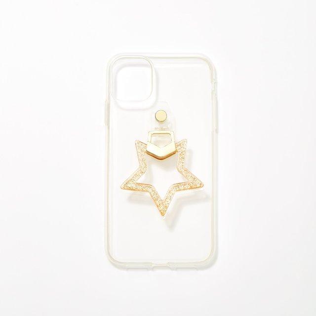 星型リングiPhone11/XRケース ゴールド