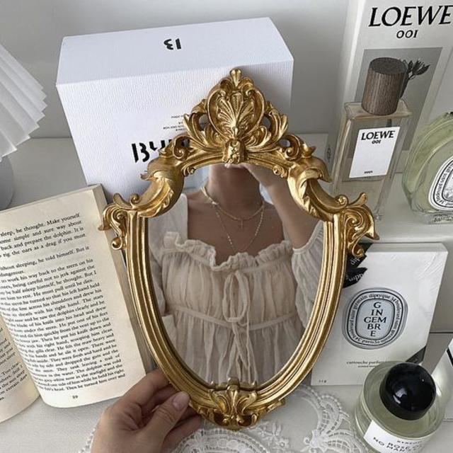 2design vintage gold mirror