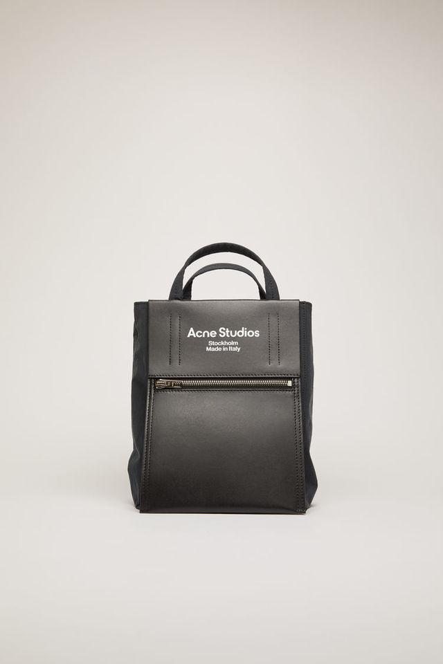 Mini tote bag black/black