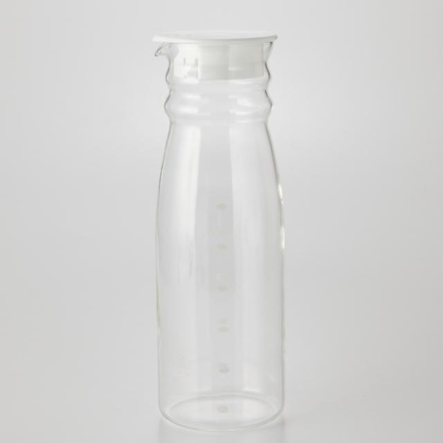 耐熱ガラス冷水筒 ホワイト 1.3L