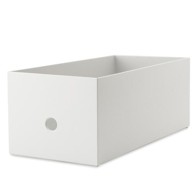 ポリプロピレンファイルボックス・スタンダードワイド・ホワイトグレー
