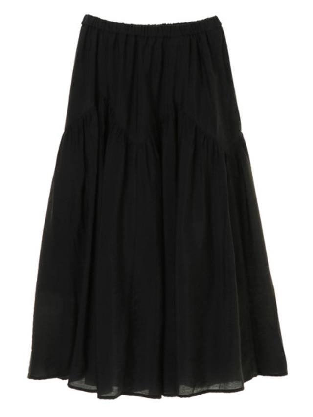 ジグザグギャザーロングスカート
