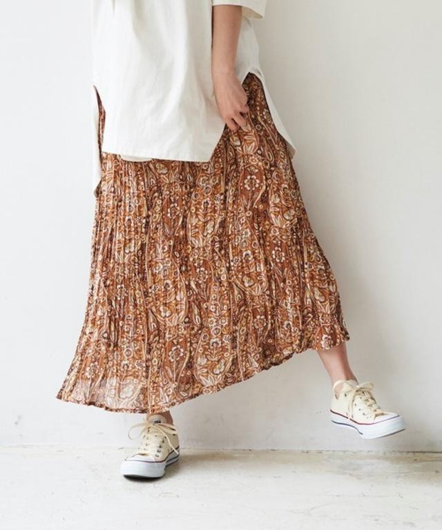 【WEB限定】しわ加工・ライトシアーロングスカート