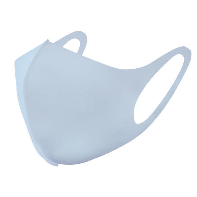 【数量限定】接触冷感 ひんやりアイスマスク 1袋(3枚入) ふつう 立体マスク ブルー 丸洗い 繰り返し ムレにくい 耳にやさしい お肌にやさしい
