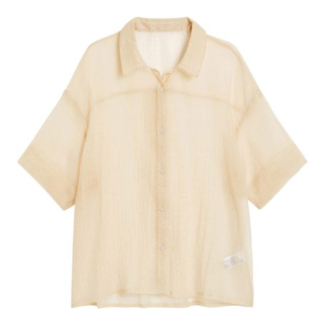 シアーオーバーサイズシャツ(5分袖)