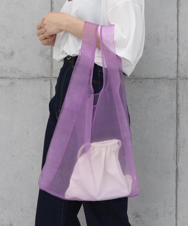 巾着バッグ付き オーガンジーバッグ