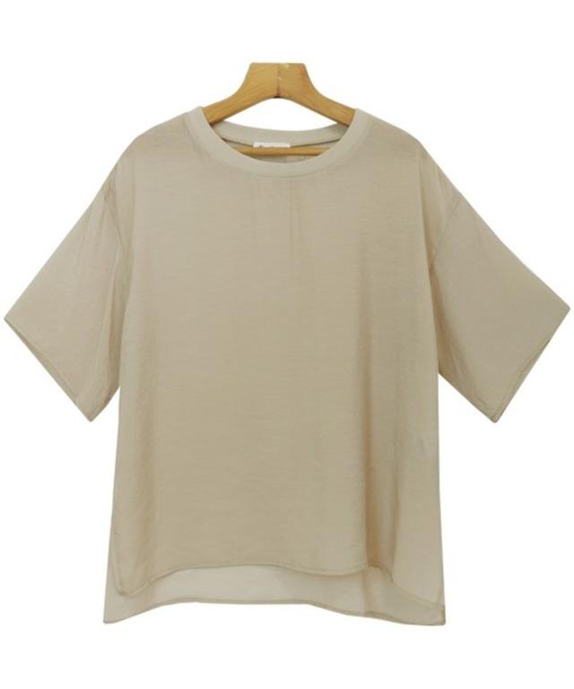 シアー半袖オーバーサイズTシャツ