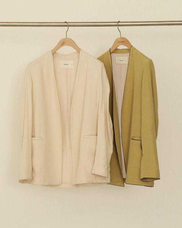 Piping Linen Jacket