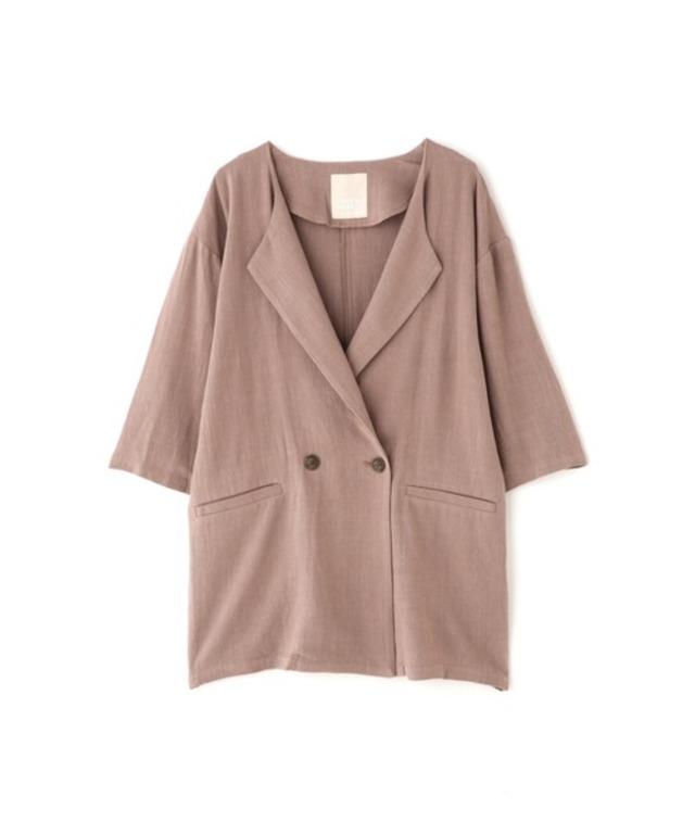 ◆麻レーヨンオーバーサイズジャケット